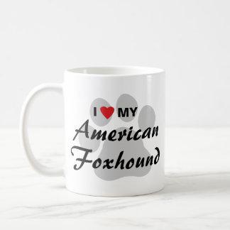 I Love (Heart) My American Foxhound Mug
