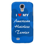 I Love (Heart) My American Hairless Terrier Samsung Galaxy S4 Case