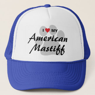 I Love (Heart) My American Mastiff Trucker Hat