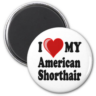 I Love (Heart) My American Shorthair Cat Refrigerator Magnet