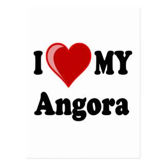 I Love (Heart) My Angora Cat Postcard