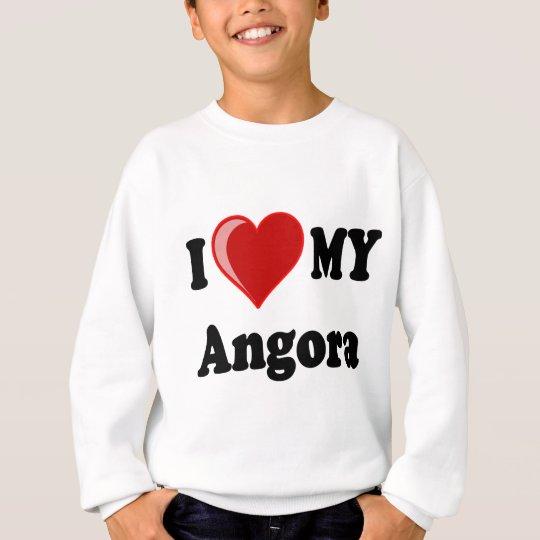 I Love (Heart) My Angora Cat Sweatshirt