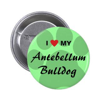 I Love Heart My Antebellum Bulldog Pin