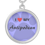 I Love (Heart) My Antipodean Silver Plated Necklace