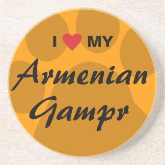 I Love (Heart) My Armenian Gampr Drink Coaster