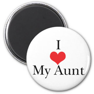 I Love (Heart) My Aunt 2 Inch Round Magnet