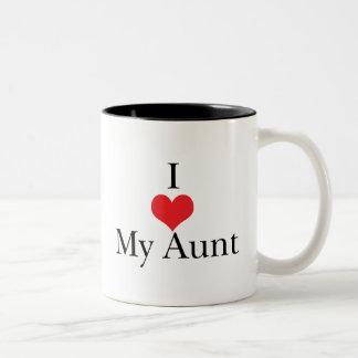 I Love (Heart) My Aunt Two-Tone Coffee Mug