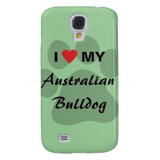 I Love (Heart) My Australian Bulldog Samsung S4 Case
