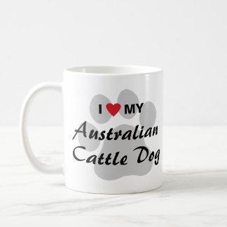 I Love (Heart) My Australian Cattle Dog Coffee Mug