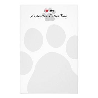 I Love Heart My Australian Cattle Dog Stationery Paper