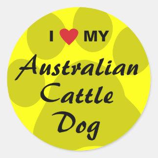 I Love (Heart) My Australian Cattle Dog Sticker