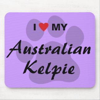 I Love Heart My Australian Kelpie Mouse Pad