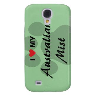 I Love (Heart) My Australian Mist Pawprint Galaxy S4 Case