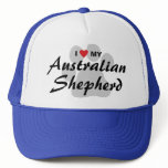 I Love (Heart) My Australian Shepherd Trucker Hat