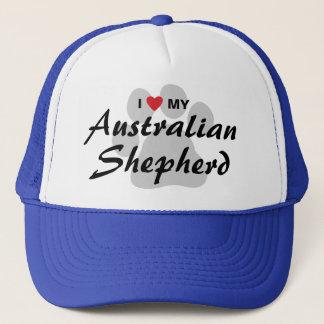 I Love (Heart) My Australian Shepherd Trucker Hat