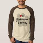 I Love (Heart) My Australian Terrier Dog Lovers T-Shirt