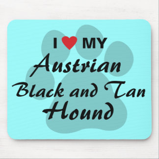 I Love (Heart) My Austrian Black and Tan Hound Mouse Pad