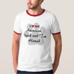 I Love (Heart) My Austrian Black and Tan Hound T-Shirt