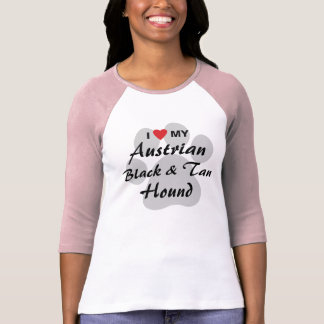I Love (Heart) My Austrian Black and Tan Hound T-shirts
