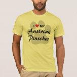 I Love (Heart) My Austrian Pinscher Dog Lovers T-Shirt