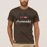I Love (Heart) My Azawakh Paw Print T-Shirt