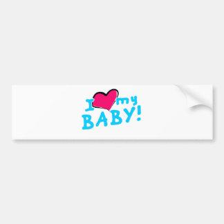 I love (heart) my baby boy bumper sticker