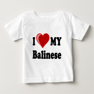 I Love (Heart) My Balinese Cat Baby T-Shirt