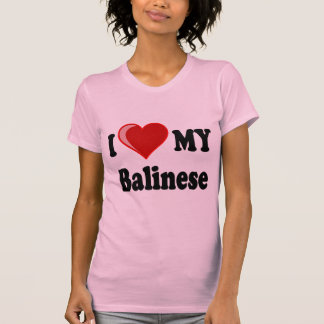 I Love (Heart) My Balinese Cat T-Shirt
