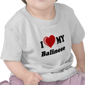 I Love (Heart) My Balinese Cat T-shirt