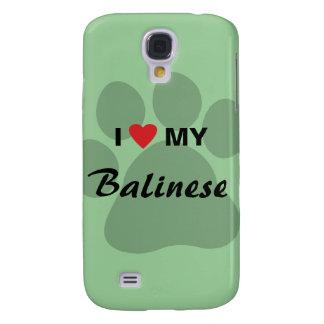 I Love (Heart) My Balinese Pawprint Galaxy S4 Cover