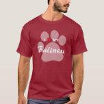 I Love (Heart) My Balinese Pawprint T-Shirt