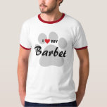 I Love (Heart) My Barbet Dog Lovers Shirt