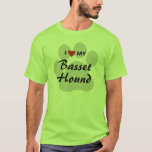 I Love (Heart) My Basset Hound Dog Lovers T-Shirt