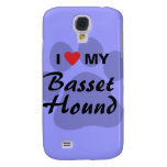 I Love (Heart) My Basset Hound Galaxy S4 Case