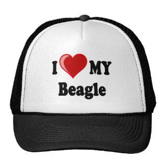 I Love (Heart) My Beagle Dog Trucker Hat