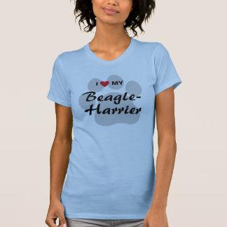 I Love (Heart) My Beagle-Harrier Dog Lovers T-Shirt