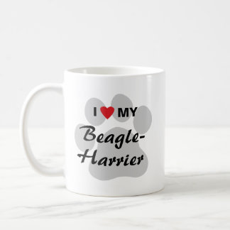 I Love (Heart) My Beagle-Harrier Classic White Coffee Mug