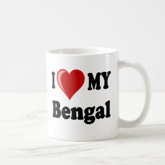 I Love (Heart) My Bengal Cat Coffee Mug
