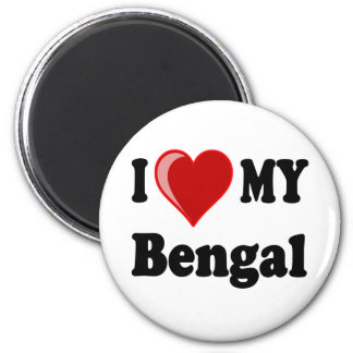 I Love (Heart) My Bengal Cat Magnet