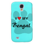 I Love (Heart) My Bengal Pawprint Samsung S4 Case