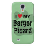 I Love (Heart) My Berger Picard Paw Print Samsung Galaxy S4 Case