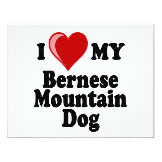 I Love (Heart) My Bernese Mountain Dog Card