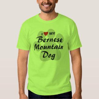 I Love (Heart) My Bernese Mountain Dog Lovers Shirt