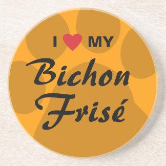 I Love Heart My Bichon Frise Drink Coasters