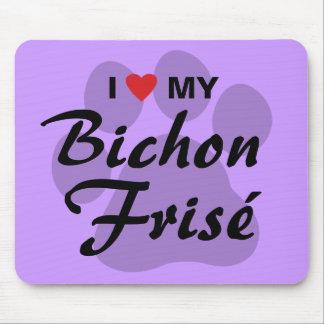 I Love (Heart) My Bichon Frise Mouse Pad