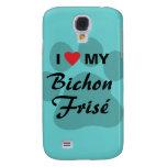 I Love (Heart) My Bichon Frise Pawprint Galaxy S4 Cover