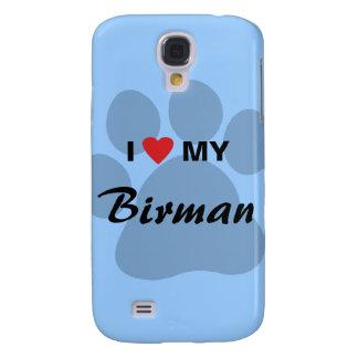 I Love (Heart) My Birman Pawprint Samsung Galaxy S4 Case