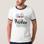 I Love (Heart) My Bisben Dog Lovers Shirt