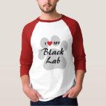 I Love (Heart) My Black Lab Dog Lovers T-Shirt