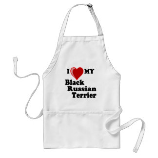 I Love (Heart) My Black Russian Terrier Dog Adult Apron